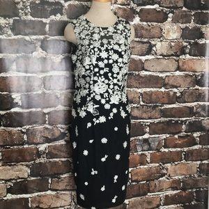 White House Black Market Dress Floral Sheath 8